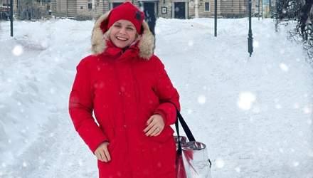 Лилия Ребрик показала зимний образ во Львове: яркое фото