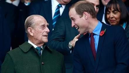 Принц Вільям висловився про стан дідуся: як почувається принц Філіп