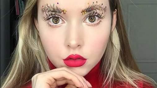 В Instagram набирають популярність брови-ялинки: промовисті фото