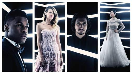"""Актеры из """"Звездных войн"""" снялись в элегантной световой фотосессии"""