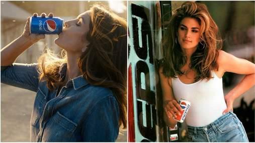Синди Кроуфорд снялась в рекламе Pepsi, как 26 лет назад: видео