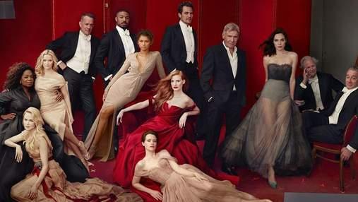 """Обложка года: 12 звезд накануне вручения """"Оскара"""" снялись для Vanity Fair – фото"""