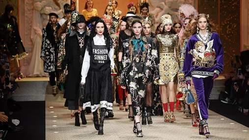 Неделя моды в Милане: фото самых роскошных образов с показа Dolce & Gabbana