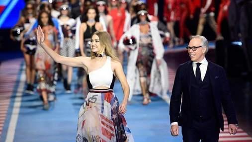 Tommy Hilfiger представил новую коллекцию совместно с Джиджи Хадид на Неделе моды в Милане: фото