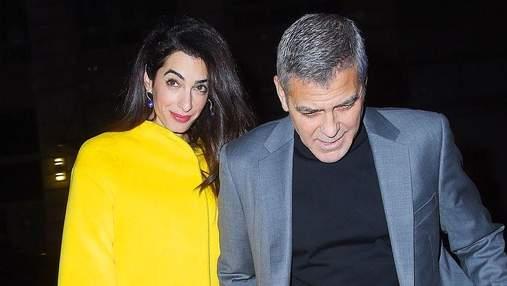 Джордж и Амаль Клуни сходили на свидание в Нью-Йорке: романтические фото