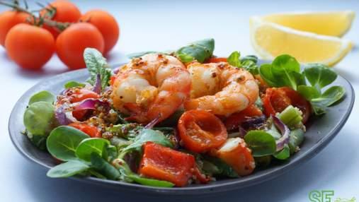 Теплий салат з креветками і кабачками від Джеймі Олівера за 15 хвилин: легкий рецепт