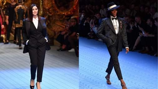 Розкішні Моніка Беллуччі і Наомі Кемпбелл пройшлись по подіуму Dolce & Gabbana: відео