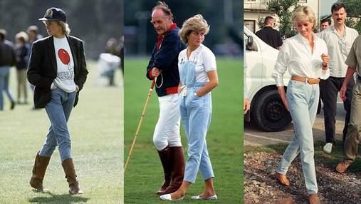 6 стильних образів принцеси Діани у джинсах, які досі актуальні: фото