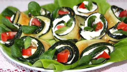 Смачні рулетики з кабачків із сиром: простий і швидкий рецепт
