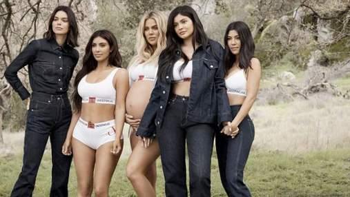 Сестры Кардашян-Дженнер снялись для кампейна Calvin Klein: стильные фото