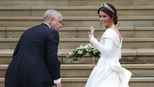 Свадьба принцессы Евгении и Джека Бруксбэнка: фото роскошного платья невесты