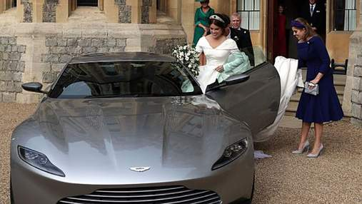 Свадьба принцессы Евгении и Джека Бруксбэнка: молодые приехали на вечеринку в авто Джеймса Бонда