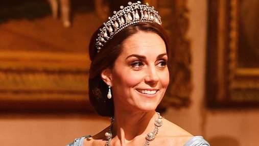 Кейт Міддлтон у коштовній тіарі принцеси Діани з'явилася на прийомі: фото