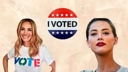 Як голлівудські зірки голосували на виборах Конгресу США: яскрава фотопідбірка