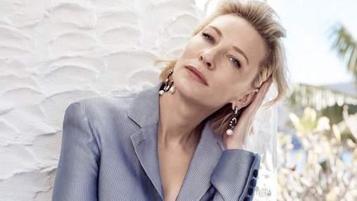 Звезды выбирают красный: Кейт Бланшетт в ярком комбинезоне от Giorgio Armani