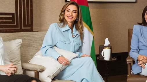 Королева Йорданії одягнула костюм українського бренду: фотофакт