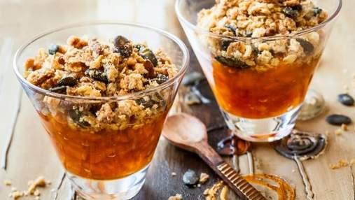 Как приготовить вкусный крамбл с тыквой и апельсином: рецепт десерта