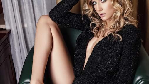 Пиджак на голое тело и соблазнительное боди: Леся Никитюк снялась для мужского журнала XXL