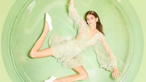 Кайя Гербер снялась в рекламной кампании Stella McCartney: оригинальные фото