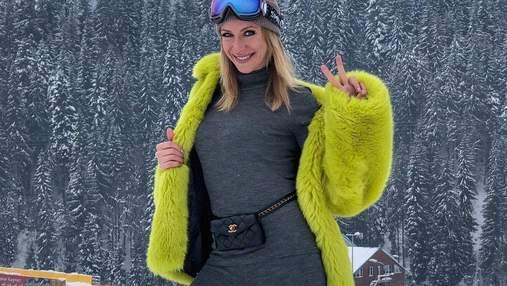 Леся Никитюк показала, как проводит зимний отдых в Карпатах: яркие фото