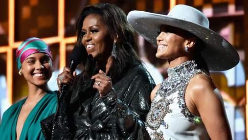 Мишель Обама неожиданно появилась на Грэмми-2019: эффектные фото