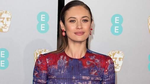 Ольга Куриленко посетила два светских мероприятия в очаровательном платье от Armani