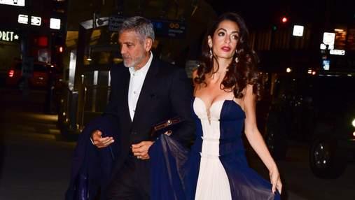 Джордж и Амаль Клуни побывали на вечеринке Энистон, несмотря на слухи о разводе