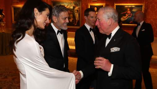 Джордж и Амаль Клуни посетили прием в Букингемском дворце: очаровательные фото