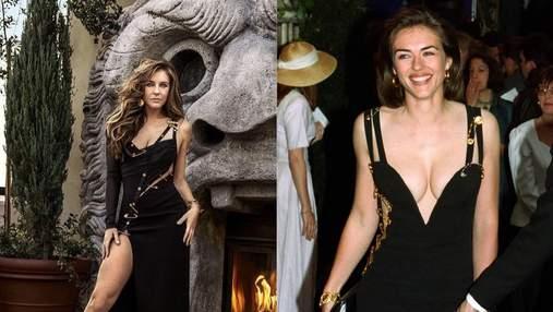 53-летняя Элизабет Херли повторила легендарный образ от Versace: соблазнительные фото