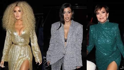 Много роскоши и блеска: сестры Кардашян с матерью поразили пикантными платьями на вечеринке