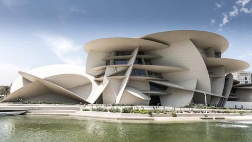 Троянда пустелі: будівля національного музею Катару вражає зовні і всередині