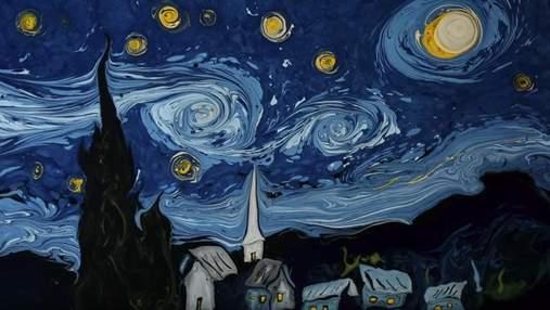 Художник намалював картину Ван Гога на воді: вражаюче відео