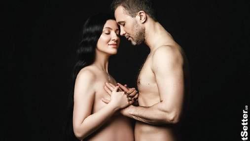Сергій Бабкін з вагітною дружиною повністю оголилися для фотозйомки: 18+