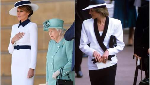 Надихнулася образами принцеси Діани: в мережі обговорюють сукню Меланії Трамп