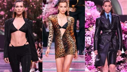 Ирина Шейк и сестры Хадид сверкали на роскошном показе от Versace: невероятные фото