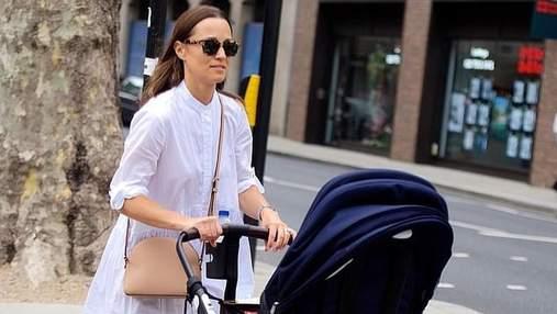 Пиппа Миддлтон засветилась на прогулке с сыном в бюджетном образе: фото стильной мамочки