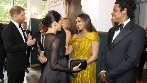 Объятия с Меган Маркл и два золотистых платья: чем запомнился выход Бейонсе в Лондоне