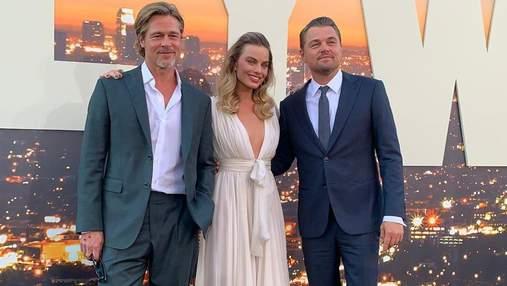 Питт, Ди Каприо и Тарантино очаровали выходом на премьере фильма в Голливуде