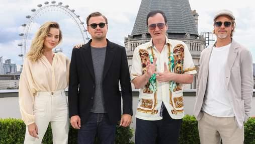 Фантастическая четверка: Робби, Ди Каприо, Питт и Тарантино посетили премьеру фильма в Лондоне