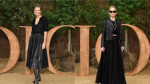 Як виглядати стильно у чорному одязі: приголомшливі приклади знаменитостей із показу Dior