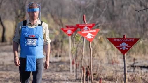 Продовжує справу принцеси Діани: принц Гаррі приєднався до розчищення мінних полів в Анголі