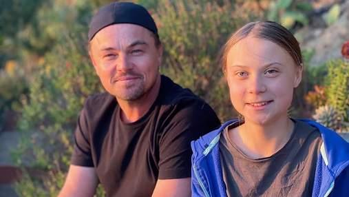 Договорились сотрудничать: Леонардо Ди Каприо встретился с 16-летней активисткой Гретой Тунберг