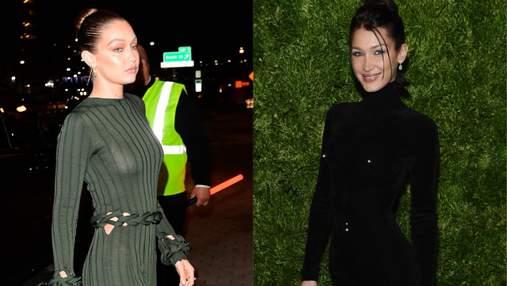 Белла и Джиджи Хадид в стильных образах посетили премию от Vogue в Нью-Йорке