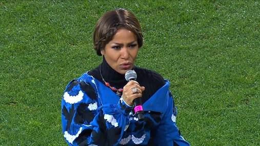 Как Гайтана исполнила гимн Украины перед матчем против Эстонии в Запорожье: видео