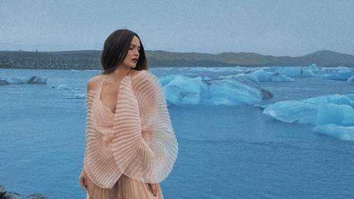 Ледяная принцесса: Даша Астафафьева очаровала фотосессией среди ледников