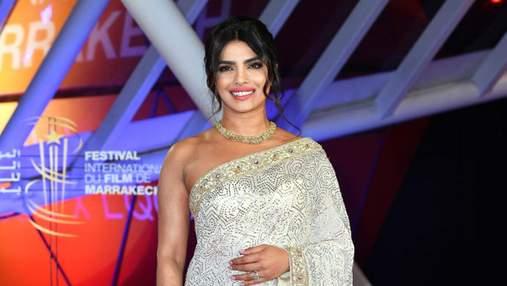 Індійська розкіш: акторка Пріянка Чопра вбрала національне вбрання на кінофестиваль