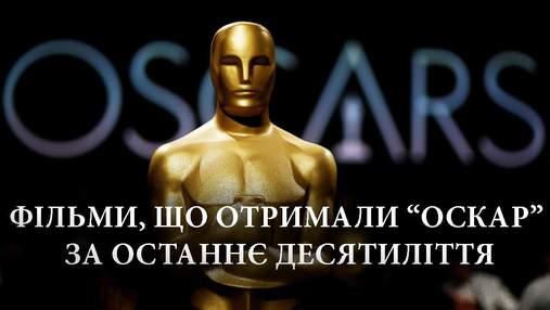 Які фільми отримали Оскар за останні 10 років: повний список