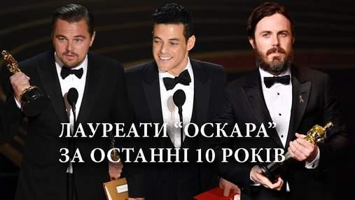 Актеры, получившие Оскар за последние 10 лет: список