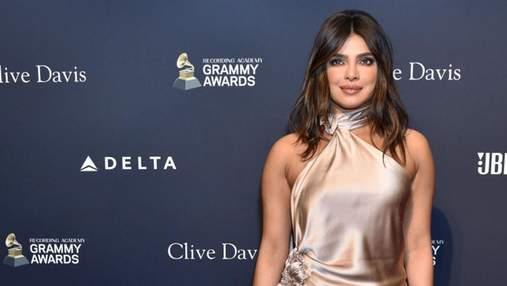В роскошном шелковом платье: Приянка Чопра появилась на светском мероприятии