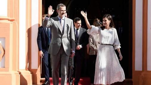 В сукні зі стильним принтом: королева Іспанії здійснила ефектний вихід